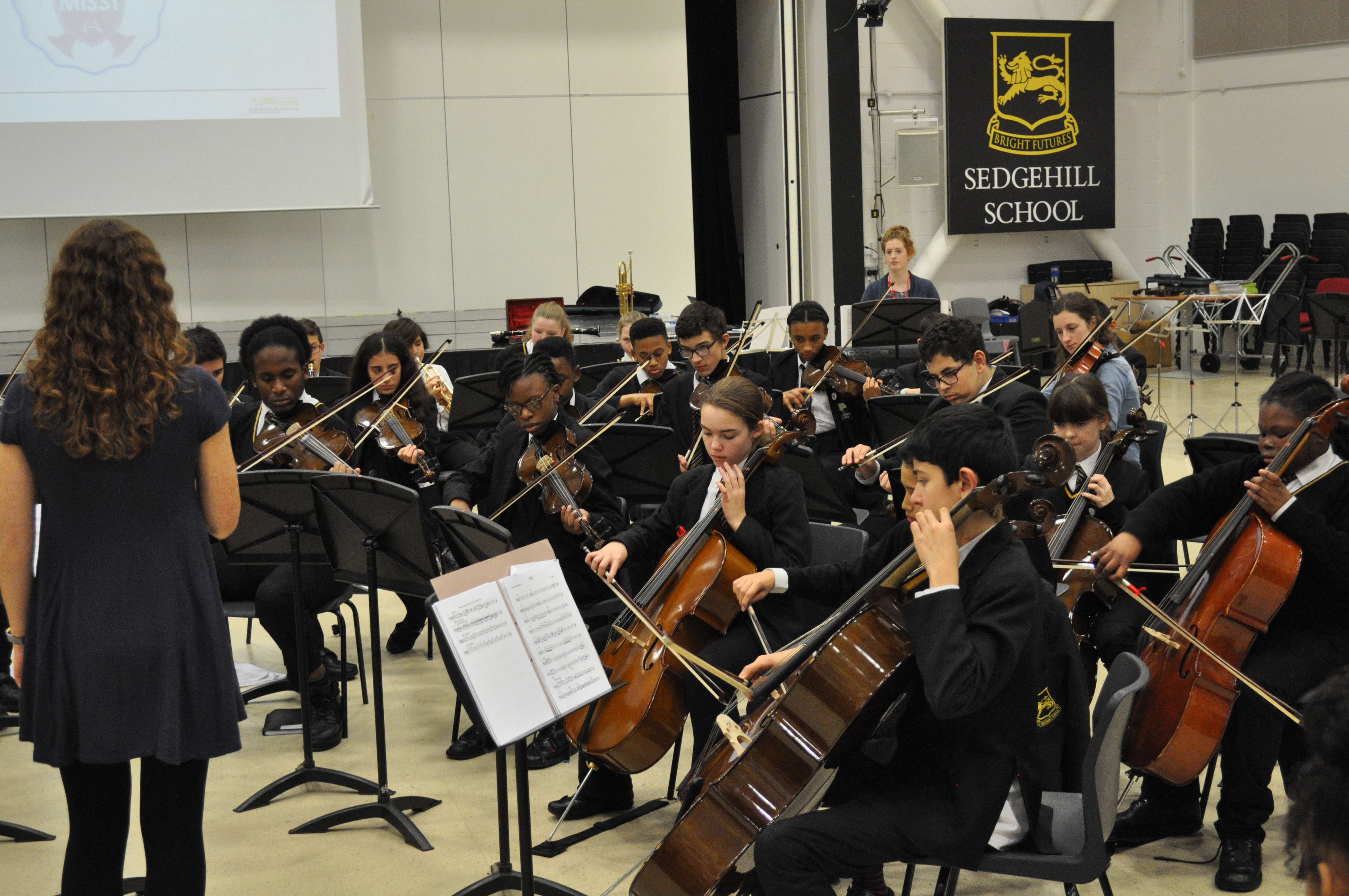 Every child has the opportunity to learn a musical instrument for free in years 7-9